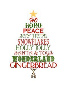 free printable - Christmas words