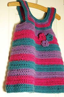 Crochet Pinafore Dress