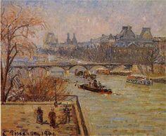 The Louvre - Camille Pissarro