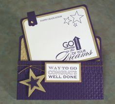 Congrats Graduation Card using Stampin Up Starring You.