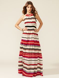 Striped Halter Maxi Dress by 10 Crosby at Gilt