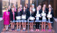 The Ascensus Society inducted 16 new members this spring. The girls were presented their honors by Head of School Dr. Annette Smith and Community Service Director Rebecca Spiro. Girls must perform 125 hours of service for induction. During the 2013-14 school year, Upper School girls accrued 11,000 hours of community service with 87 girls gaining membership in the Ascensus Society.
