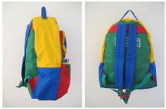 backpack 90s primary colors colorblock United Colors of Benetton