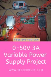 Variable Power Supply Circuit 0 50v At 3a With Pcb Eleccircuit Com Power Supply Circuit Circuit Diagram Voltage Regulator