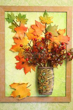 картина-панно с кленовыми листьями из холодного фарфора Autumn Crafts, Fall Crafts For Kids, Nature Crafts, Art For Kids, Cork Crafts, Diy And Crafts, Leaf Projects, Diy Wedding Backdrop, Magazine Crafts