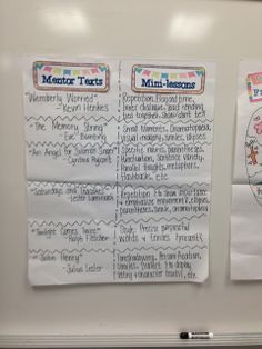 mentor texts & corresponding mini-lessons for writing!
