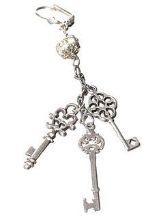 Victorian Keys Drop Earrings | PLASTICLAND