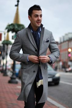 Blue and grey is an excellent colour combination... especially when it is well-tailored.