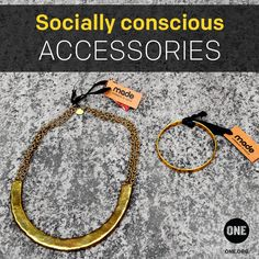 #Accessorize this fall with hand-made, #fairtrade #jewelry like these beautiful pieces from our friends at Made. Get yours now at the #ONE store!