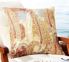 Lesina Paisley Indoor/Outdoor Pillow #potterybarn  $25
