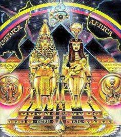 Asar - Aset - Heru: The holy trinity. From Kemet to America