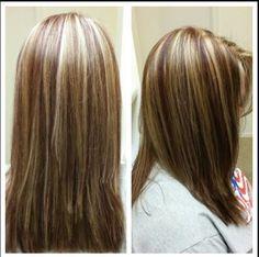 #redblondandbrown #hair #highlights #lowlights