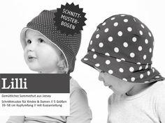 Kindermode - LILLI - gemütlicher Sonnenhut, Schnittmuster - ein Designerstück von schnittreif bei DaWanda