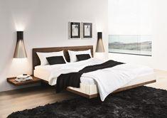 Riletto solid wood platform floating bed - Home Decorating Trends - Homedit