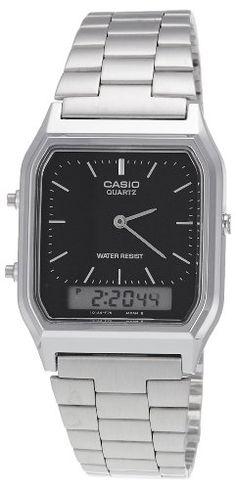 a00ceca37b6 Amazon.com  Casio AQ-230A-1DMQYEF Mens Combi Bracelet Watch  Casio  Watches