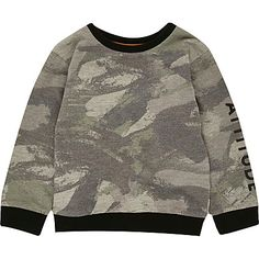 Mini boys khaki camo sweatshirt £12.00