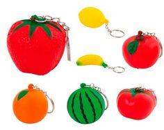 Llavero frutas para detalle