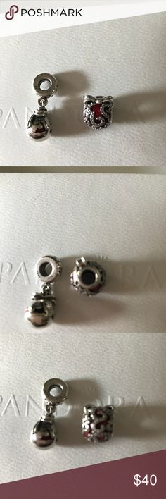Pandora Christmas charms 2 authentic Christmas pandora charms Pandora Accessories