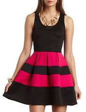 New Womens Sleeveless Skater Dress Evening Striped Ladies Cocktail Casual Skirt