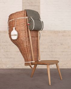 """Designers love to say that their furniture """"tells a story."""" Italian designers Studio Formafantasma take that one giant step further with Domestica, a chair commissioned by the Dilmos Gallery that tells the history of their nation."""