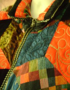 Vintage Gallery Down Womens Ski Puffy Parka Jacket Quilt Patchwork size M or L #Gallery #Parka