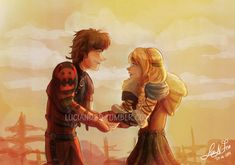 Hiccup and Astrid fixed by Luciand29 on DeviantArt