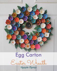 Egg Carton Easter Wreath