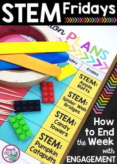 All about how to implement STEM Fridays in your Elementary Classroom! | STEM Challenges