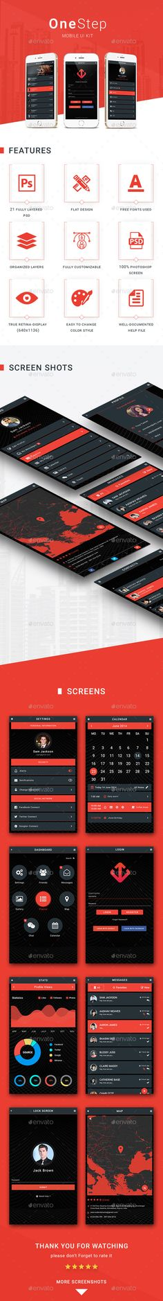 OneStep - Mobile UI KIT - User Interfaces Web Elements