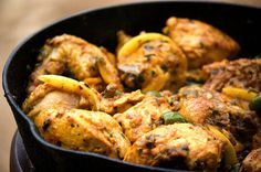 Chicken With Preserved Lemon And Green Olives (after the recipe for preserving lemons)