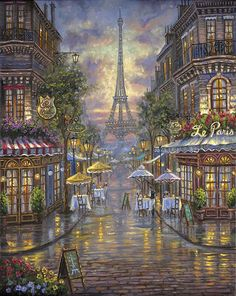 Diamond Painting Kits painting by numbers Home Decoration Picture of Rhinestones Cross Stitch Kits Paris Cafe Diamond Embroidery Paris Painting, City Painting, Theme Carnaval, Eiffel Tower Painting, Eiffel Tower Art, Paris Wallpaper, Paris Art, Famous Places, Beautiful Paintings