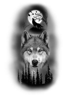 Viking Tattoo Sleeve, Wolf Tattoo Sleeve, Full Sleeve Tattoos, Viking Tattoos, Lion Tattoo Sleeves, Wolf Tattoos Men, Native Tattoos, Animal Tattoos, La Luna Tattoo