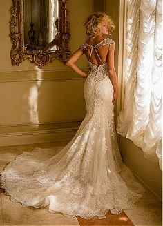 Stunning Tulle Sweetheart Neckline Mermaid Wedding Dresses With Lace Appliques