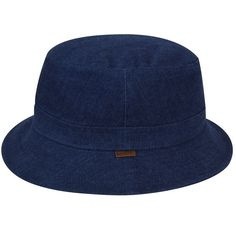 2bc1e3d1fdf The Quilted Denim Hunter is a cross between a bucket   trilby. It features  an. hats.com
