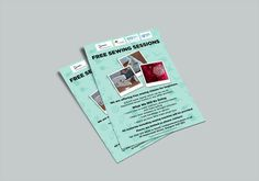 SEWING SESSIONS – Beginner level for Free Sewing Sessions flyer or leaflets for Cook Grow Sew and Change and WSREC. #flyers #leaflets #printouts #sewing #sewingsessions #sessions #cook #grow #sew