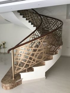 BuildDirect Africa - Africa's First and Biggest Laser Cut Building Addition Manufacturer Interior Stair Railing, Modern Stair Railing, Balcony Railing Design, Metal Stairs, Modern Stairs, New Staircase, Staircase Railings, Staircase Design, Staircases