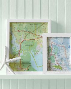 Embroidered Map | Cool DIY Scrapbook Ideas You Have To Try