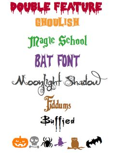 Fuentes tipográficas para Halloween Typographic fonts for Halloween Halloween Fonts, Halloween 4, Typography, Nice Things, Vr, Classroom, Modern, Blog, Typography Fonts