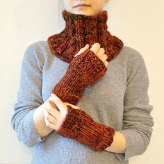 Orange Cable scarf and classic knit hand warmer gift set, orange, gift... (1 315 UAH) ❤ liked on Polyvore featuring accessories, scarves, chunky scarves, orange scarves, cable knit shawl, crochet scarves and merino shawl