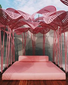 Presented by @theinvisiblecollection and designed by @marc.ange Le Refuge is a contemplative palm-shaded daybed installation in a lush fantasy setting by the Green Gallery in the Mediateca garden. For more divine design visit Wallpaper's Holy Handmade! exhibition on view until 9 April. (: @jessklingelfuss) #salonedelmobile #wallpaperhandmade #holyhandmade #handmadeexhibition via WALLPAPER MAGAZINE OFFICIAL INSTAGRAM - Fashion Design Architecture Interiors Art Travel Contemporary Lifestyle