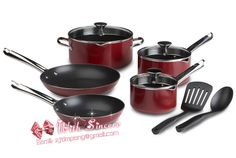 Non-Sitck Cookware made of aluminum alloy, glass lid and bakelite handle.good quality and factory price.