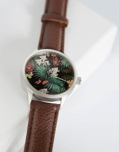 Flower Prints, Fashion Watches, Flower Power, Personal Style, Bling, Jewels, Product Design, My Style, Clocks