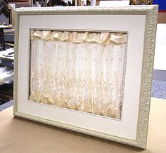 Framing wedding dress