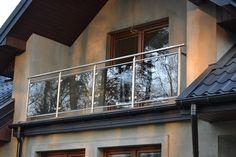 Balustrada zewnętrzna – szkło, stal nierdzewna