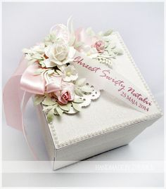 made by żyrafka: Exploding Box Scrapbook Box, Scrapbooking, Wedding Boxes, Wedding Cards, Pop Up Box Cards, Card Boxes, Exploding Box Card, Magic Box, Pretty Box