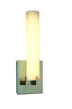 THE LED Glass Cylinder Sconce by Phoenix Day. #LED Led Fixtures, Sconces, Wall Lights, Lighting, Phoenix, Glass, Board, House, Home Decor
