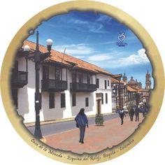 Casa de la Moneda, Esquina del Reloj Gate, Decoupage, Clouds, Travel, Impressionism, Clock, Tourism, Colombia, Culture