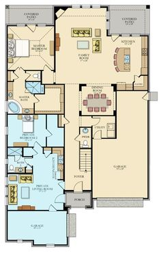 Acadia Next Gen® New Home Plan in Magnolia Creek: Vista Collection by Lennar New House Plans, Dream House Plans, Small House Plans, House Floor Plans, Dream Houses, The Plan, How To Plan, Next Gen Homes, Home Map Design