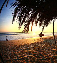 Playa Nosara, Guanacaste es divertido. Usted puede disfrutar de actividades en la playa y el surf en el agua.