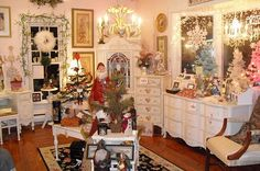 Shabby chic christmas shop